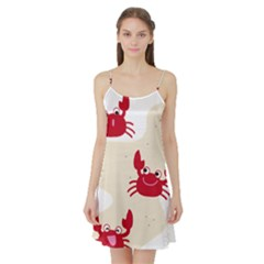 Sand Animals Red Crab Satin Night Slip