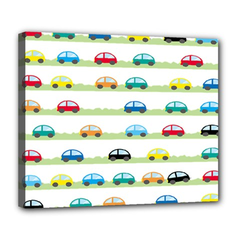Small Car Red Yellow Blue Orange Black Kids Deluxe Canvas 24  X 20