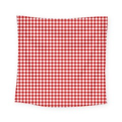 Plaid Red White Line Square Tapestry (small)