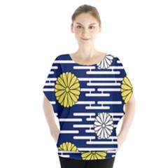 Sunflower Line Blue Yellpw Blouse
