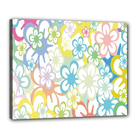 Star Flower Rainbow Sunflower Sakura Canvas 20  x 16