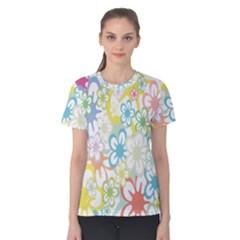 Star Flower Rainbow Sunflower Sakura Women s Cotton Tee
