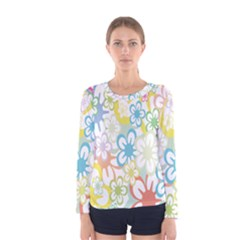 Star Flower Rainbow Sunflower Sakura Women s Long Sleeve Tee
