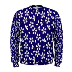 Star Flower Blue White Men s Sweatshirt