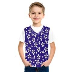 Star Flower Blue White Kids  Sportswear