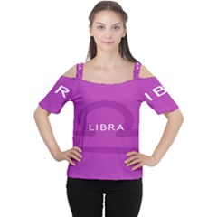 Zodizc Libra Purple Women s Cutout Shoulder Tee