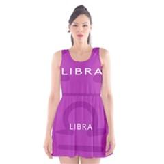 Zodizc Libra Purple Scoop Neck Skater Dress