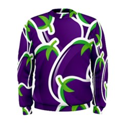 Vegetable Eggplant Purple Green Men s Sweatshirt