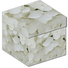 Hydrangea Flowers Blossom White Floral Photography Elegant Bridal Chic  Storage Stool 12