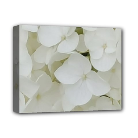 Hydrangea Flowers Blossom White Floral Photography Elegant Bridal Chic  Deluxe Canvas 14  x 11