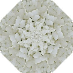 Hydrangea Flowers Blossom White Floral Photography Elegant Bridal Chic  Hook Handle Umbrellas (Large)