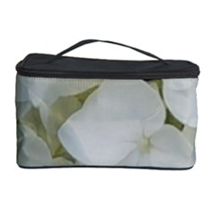 Hydrangea Flowers Blossom White Floral Photography Elegant Bridal Chic  Cosmetic Storage Case