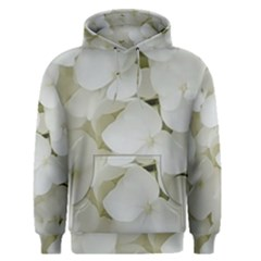 Hydrangea Flowers Blossom White Floral Photography Elegant Bridal Chic  Men s Pullover Hoodie