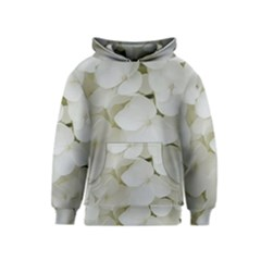 Hydrangea Flowers Blossom White Floral Photography Elegant Bridal Chic  Kids  Pullover Hoodie