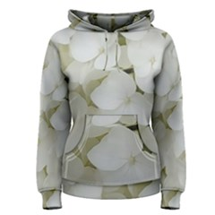 Hydrangea Flowers Blossom White Floral Photography Elegant Bridal Chic  Women s Pullover Hoodie
