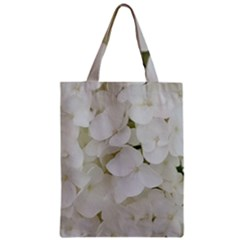 Hydrangea Flowers Blossom White Floral Photography Elegant Bridal Chic  Zipper Classic Tote Bag