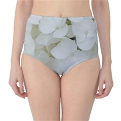 Hydrangea Flowers Blossom White Floral Photography Elegant Bridal Chic  High-Waist Bikini Bottoms