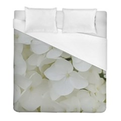 Hydrangea Flowers Blossom White Floral Photography Elegant Bridal Chic  Duvet Cover (Full/ Double Size)