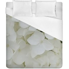 Hydrangea Flowers Blossom White Floral Photography Elegant Bridal Chic  Duvet Cover (California King Size)