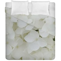 Hydrangea Flowers Blossom White Floral Photography Elegant Bridal Chic  Duvet Cover Double Side (California King Size)