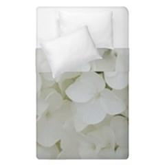 Hydrangea Flowers Blossom White Floral Photography Elegant Bridal Chic  Duvet Cover Double Side (Single Size)
