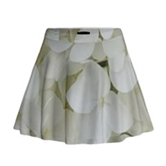 Hydrangea Flowers Blossom White Floral Photography Elegant Bridal Chic  Mini Flare Skirt