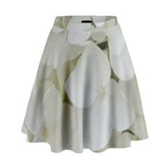 Hydrangea Flowers Blossom White Floral Photography Elegant Bridal Chic  High Waist Skirt