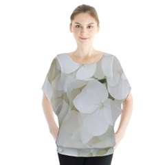 Hydrangea Flowers Blossom White Floral Photography Elegant Bridal Chic  Blouse