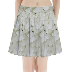 Hydrangea Flowers Blossom White Floral Photography Elegant Bridal Chic  Pleated Mini Skirt