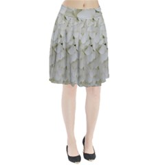 Hydrangea Flowers Blossom White Floral Photography Elegant Bridal Chic  Pleated Skirt