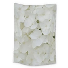Hydrangea Flowers Blossom White Floral Photography Elegant Bridal Chic  Large Tapestry