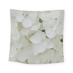 Hydrangea Flowers Blossom White Floral Photography Elegant Bridal Chic  Square Tapestry (Small)