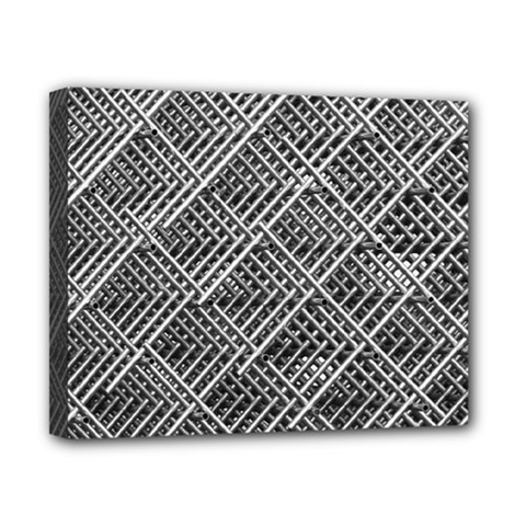 Pattern Metal Pipes Grid Canvas 10  X 8