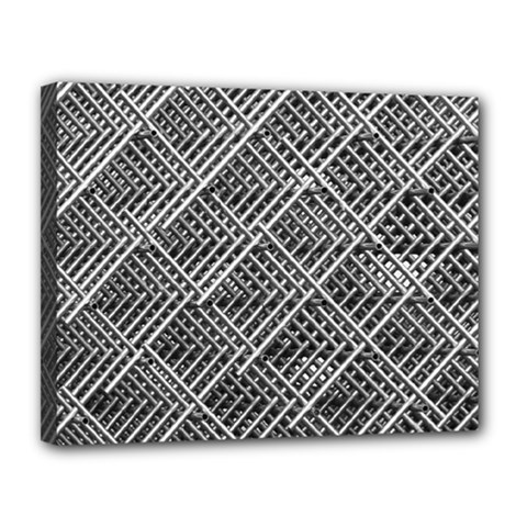 Pattern Metal Pipes Grid Canvas 14  x 11