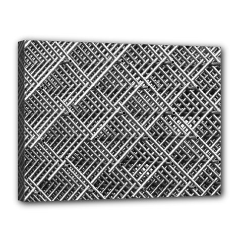 Pattern Metal Pipes Grid Canvas 16  X 12