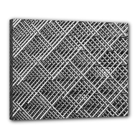 Pattern Metal Pipes Grid Canvas 20  x 16