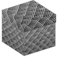 Pattern Metal Pipes Grid Storage Stool 12
