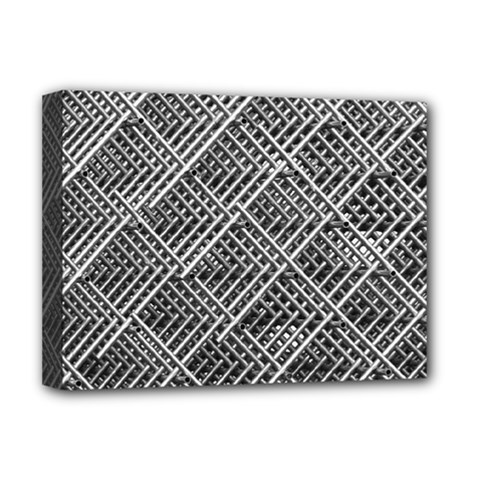 Pattern Metal Pipes Grid Deluxe Canvas 16  x 12