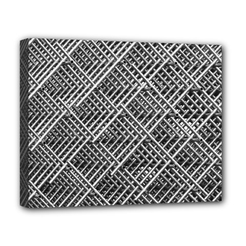Pattern Metal Pipes Grid Deluxe Canvas 20  X 16