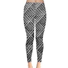 Pattern Metal Pipes Grid Leggings