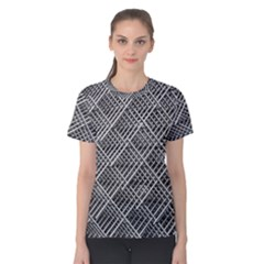 Pattern Metal Pipes Grid Women s Cotton Tee