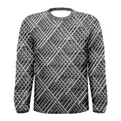 Pattern Metal Pipes Grid Men s Long Sleeve Tee