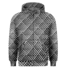 Pattern Metal Pipes Grid Men s Zipper Hoodie