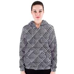 Pattern Metal Pipes Grid Women s Zipper Hoodie