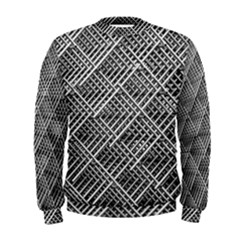 Pattern Metal Pipes Grid Men s Sweatshirt