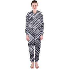 Pattern Metal Pipes Grid Hooded Jumpsuit (ladies)