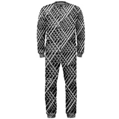 Pattern Metal Pipes Grid OnePiece Jumpsuit (Men)