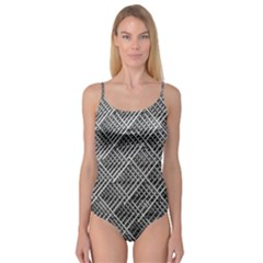 Pattern Metal Pipes Grid Camisole Leotard