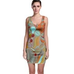 Liquid Bubbles Sleeveless Bodycon Dress
