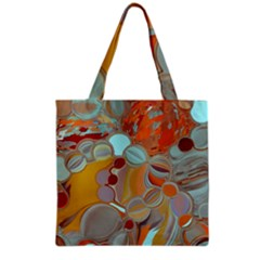 Liquid Bubbles Grocery Tote Bag